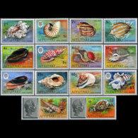 AITUTAKI 1974 - Scott# 82-95 Pacific Shells Set Of 14 MNH - Aitutaki