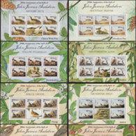 BHUTAN 1985 - Scott# 506A-13A Sheets-Audubon Birds MNH - Bhutan