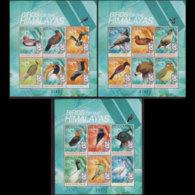 BHUTAN 1999 - Scott# 1263-5 Sheets-Hymalaya Birds MNH - Bhutan