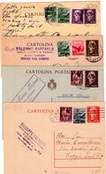 Italia  Repubblica  Lotto Di 4  Interi Postali Affr. Mista Luogotenenza + Democratica - 6. 1946-.. Repubblica