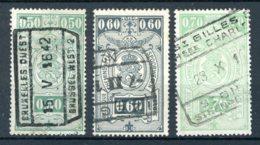 (B) TR240/242 Gestempeld 1941 - Rijkswapen Gewijzigde Kleuren - Chemins De Fer