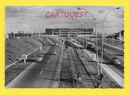 """CPSM ORLY 94 ֎ Aéroport De PARIS - ORLY - La Façade Nord De L'Aérogare - Voitures """"2CV"""" - Autobus   ֎ - Orly"""