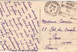 MAROC - TANGER -  13-6-1935 - DAGUIN - TANGER PETIT SOUK - CARTE POSTALE POUR LA FRANCE. - Briefe U. Dokumente