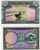 Billets Du Vietnam Du Sud - 5 Dông N D 1955 Neuf - 1 Dông N D 1956 Neuf - - Vietnam