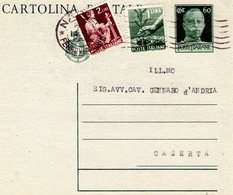 Italia  Repubblica  Intero Postale Affr. Mista  Luogotenenza + Democratica - 1946-60: Marcophilia