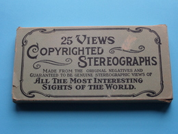 25 Views Copyrighted STEREOGRAPHS ( In This Lot Is 1 Photo Missing ) Made From The Original Negatives ! - Photos Stéréoscopiques