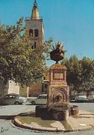 POSTAL B00670: Prades. Fontaine Et Clocher De L Eglise St. Pierre - Postales