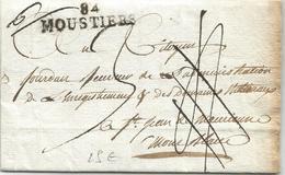 MARQUE CONQUIS MONT BLANC 84 MOUSTIERS AN 11 LETTRE BOURG DE ST MAURICE SAVOIE TAXE 4 ANNULEE PUIS 3 - Marcophilie (Lettres)