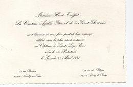 Saint Léger (château) (27 Eure) Faire Part De Mariage  Truffert / Roussel De La Foret Divonne (!)1991 (PPP18277) - Wedding