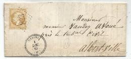 N° 21 GC 823 TYPE 22 CEVINS 1 DEC 1862 LETTRE ST PAUL SAVOIE COTE 150€ - 1849-1876: Classic Period