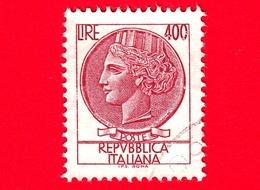 ITALIA - Usato - 1976 - Antica Moneta Siracusana - Turrita - 400 L. - 1971-80: Usados