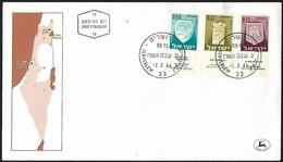 1966 - ISRAEL - FDC + Michel 327+ 332 + 334 + JERUSALEM - FDC