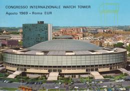 ROMA EUR - PALAZZO DELLO SPORT - CONGRESSO INTERNAZIONALE WATCH TOWER AGOSTO 1969 - VIAGG.1969 - Exposiciones
