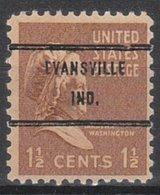 Locals USA Precancel Vorausentwertung Preo, Bureau Indiana, Evansville 805-71 - Vorausentwertungen