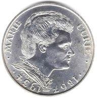 100 Francs Argent Marie Curie 1984 - N. 100 Franchi