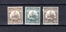 Islas Carolinas   1900-1914  .  Y&T  Nº   7-8-21 - Oceania (Other)