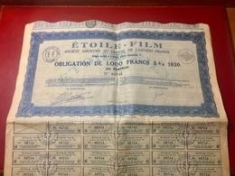 ÉTOILE - FILM  -------- Obligation  De  1.000 Frs - Cinéma & Theatre