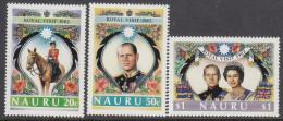 NAURU, 1982 ROYAL VISIT 3 MNH - Nauru