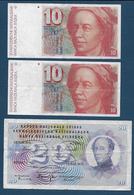 SUISSE - 3 Billets - Suisse