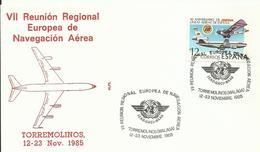 ESPAÑA ,SOBRE CONMEMORATIVO REUNION EUROPEA DE NAVEGACION AEREA - 1931-Hoy: 2ª República - ... Juan Carlos I