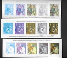 Lot De 6 Epreuves-sans-valeur-etape-succ-impression-en-heliogravure-de-divers Tableaux - Other