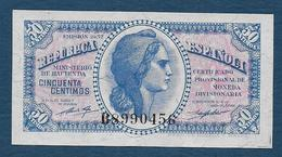 ESPAGNE - 50 C  1937 - [ 2] 1931-1936 : République