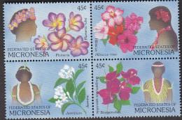 MICRONESIA, FLOWERS BLOCK 4 MNH - Micronesia