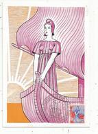 Carte Maximum  , Musée Postal , 4 RVE SAINT ROMAIN , PARIS , 2-1-1960 , Essai Pour Un Nouveau Timbre D'usage Courant - Cartes-Maximum