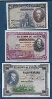 ESPAGNE - 3 Billets - [ 1] …-1931 : Prime Banconote (Banco De España)