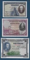 ESPAGNE - 3 Billets - [ 1] …-1931 : Premiers Billets (Banco De España)