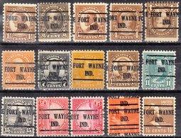 Locals USA Precancel Vorausentwertung Preo, Locals Indiana, Fort Wayne 225, 15 Diff., Perf. 11 X 10 1/2 - Vorausentwertungen