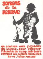 LARZAC - Pour Protester Contre Le Projet D'extension Du Camp Militaire - Syndicat - Militantisme - France