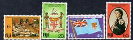 FIJI, 1980 INDEPENDENCE ANNIVERSARY 4 MNH - Fiji (1970-...)