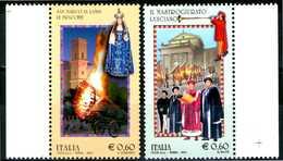 """ITALIA / ITALY 2011/12** - Folklore -  """"Le Fracchie"""" - """"Il Mastrogiurato"""" - 2 Val. MNH Come Da Scansione. - Altri"""