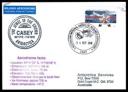 Antarctica • Australia • 2018 • Airmail Postcard To Australia • Cancelled At Casey Base • C-17A Globemaster III Airdrop - Australian Antarctic Territory (AAT)