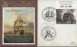 3399   Carta Antigua Y Barbuda , Horatio Nelson  Batalla De Trafalgar,,2005, Battle Of Trafalgar - Antigua And Barbuda (1981-...)