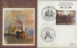 3399   Carta Antigua Y Barbuda , Horatio Nelson  Batalla De Trafalgar,,2005, Battle Of Trafalgar, HMS Temeraire - Antigua And Barbuda (1981-...)