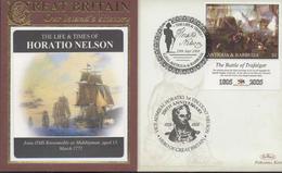 3399   Carta Antigua Y Barbuda , Horatio Nelson  Batalla De Trafalgar,,2008, Battle Of Trafalgar, - Antigua And Barbuda (1981-...)