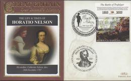 3399   Carta Antigua Y Barbuda , Horatio Nelson  Batalla De Trafalgar,,2008, Battle Of Trafalgar , Cathrine Nelson - Antigua And Barbuda (1981-...)