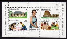 NEW ZEALAND, 1974 NZ DAY MINISHEET MNH - New Zealand