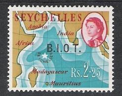British Indian Ocean Territory 1968 Definitives 2r25 Light Stop Over 'O'  MNH CV £35.00? - British Indian Ocean Territory (BIOT)