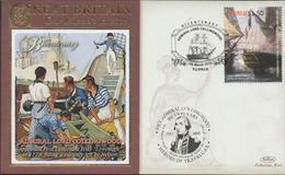3400   Carta Tuvalu , Horatio Nelson  Batalla De Trafalgar,,2010, 10 Lord Collingwood, Barco - Tuvalu