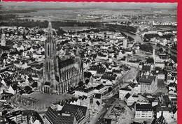 CARTOLINA VG GERMANIA - ULM - Luftaufnahme Munsterplatz Mit Altstadt - 10 X 15 - ANN. 1953 - Ulm