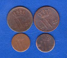 Pays  Bas  1/2  Cent   1823 B   +  3  Pieces - [ 3] 1815-… : Kingdom Of The Netherlands