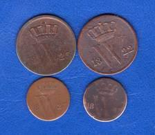 Pays  Bas  1/2  Cent   1823 B   +  3  Pieces - 1815-1840 : Willem I