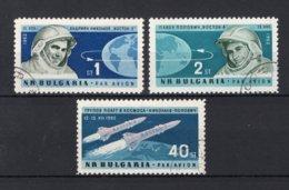 BULGARIJE Yt. PA93/95° Gestempeld Luchtpost 1962 - Poste Aérienne
