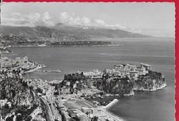 CARTOLINA VG MONACO - Le Principaute - Le Rocher Le Port - Cap Martin Et La Cote Italienne - 10 X 15 - ANN. 1956 - Viste Panoramiche, Panorama