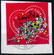France - St-Valentin 2010 Lanvin YT 4431 Obl. Cachet Rond Sur Fragment - Oblitérés
