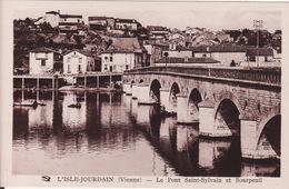 CPA 86 -  L'ISLE JOURDAIN - Pont Saint Sylvain Et BOURPEUIL - L'Isle Jourdain