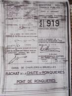 Ronquieres  Plan De  Construction Du Plan Incliné - Public Works